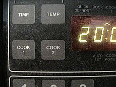 What the heck! oven time... microwave time... both should be close...